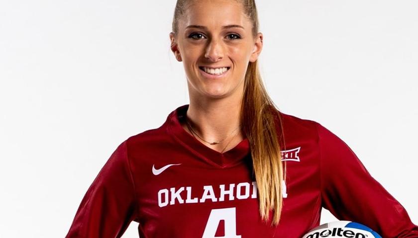 University of Oklahoma volleyball player Kylee McLaughlin