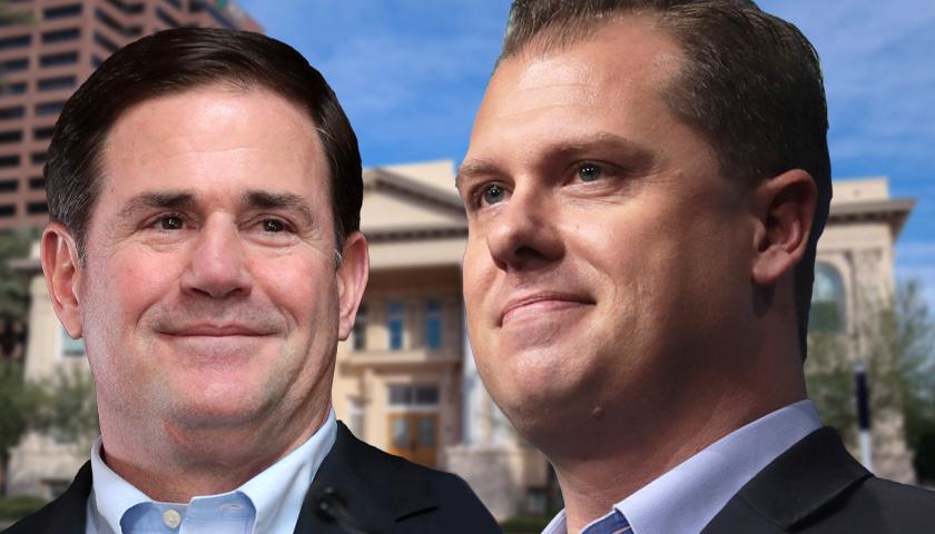 Doug Ducey and Jake Hoffman