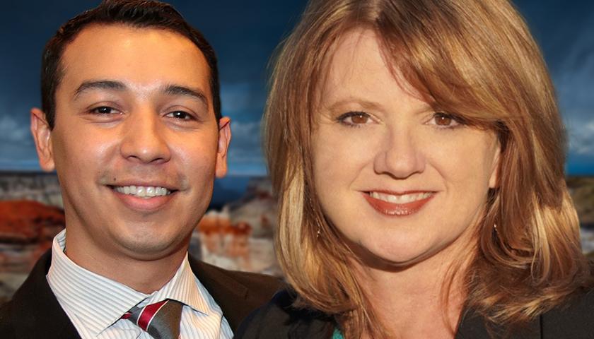 Tony Navarrete and Kelly Townsend