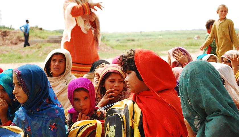 Afghan women refugee settlment