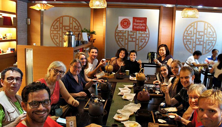 Tea Making Cultural Activity for the Taiwan Mandarin Institute